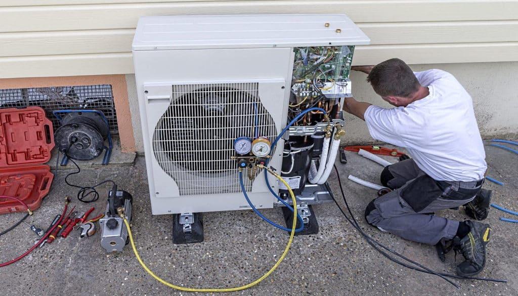 installation d'une pompe à chaleur